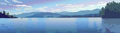 Wall Art - Painting - Lake Blues by Marian Federspiel