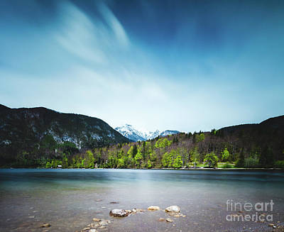 Photograph - Lake Bohinj With Alps In Slovenia by Patrik Lovrin