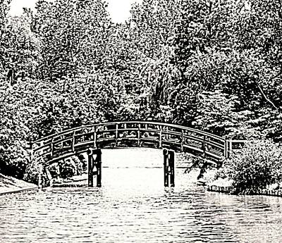Lake Bridge Art Print by Rodger Mansfield