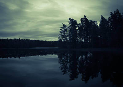Lake By Night Print by Nicklas Gustafsson