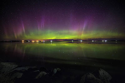 Photograph - Lake Byron Aurora  by Aaron J Groen