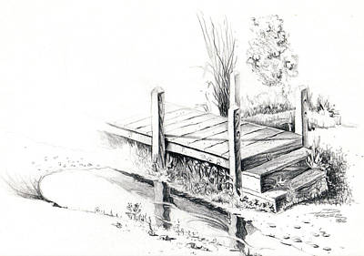 Drawing - Lake Catherine, Fl by Dale Turner