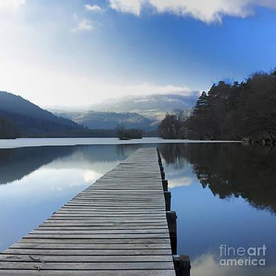 Lake Chambon. Auvergne. France Art Print by Bernard Jaubert