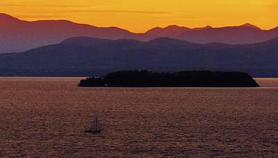 Photograph - Lake Champlain Sunset by Todd Rojecki