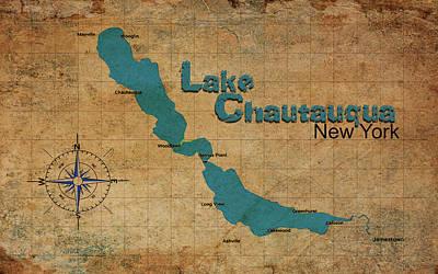 Digital Art - Lake Chautauqua Ny by Greg Sharpe