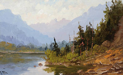 Lake Painting - Lake Chelan by John Fery