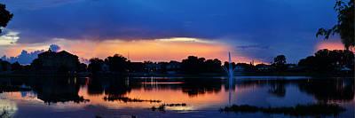 Photograph - Lake City Florida Panoramic Sunset by rd Erickson