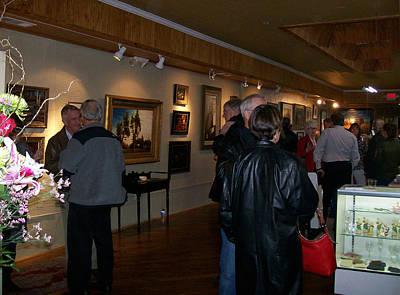 Egg Tempera Mixed Media - Lake City Gallery Opening by William Entrekin