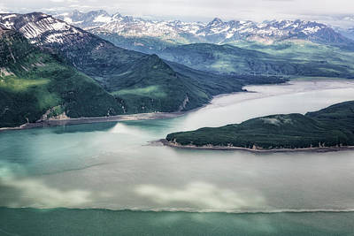 Photograph - Lake Clark Np From The Plane by Belinda Greb