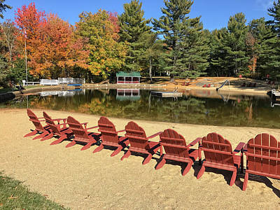 Photograph - Lake Club In Fall by Donna Doherty