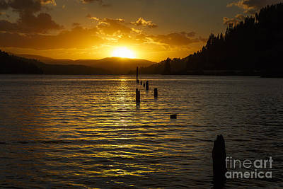 Photograph - Lake Coeur D'alene At Sunset by Dennis Hedberg
