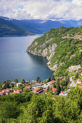 Photograph - Lake Como From Above Varenna Italy II by Joan Carroll