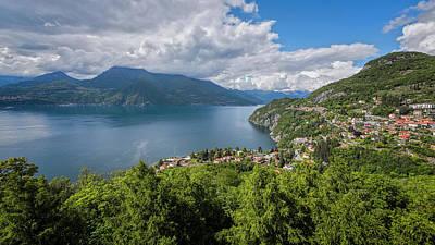 Lake Como Photograph - Lake Como Above Varenna Italy by Joan Carroll