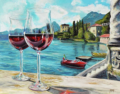 Lago Di Como Painting - Lake Como Afternoon by Nathan Lewis