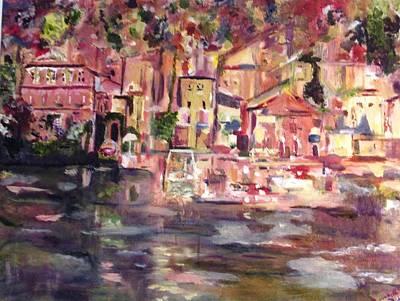Lake Como Original by Beverly A Smith