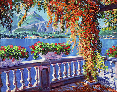 Container Painting - Lake Como by David Lloyd Glover