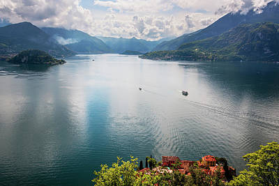 Photograph - Lake Como From Above Varenna Italy IIi  by Joan Carroll