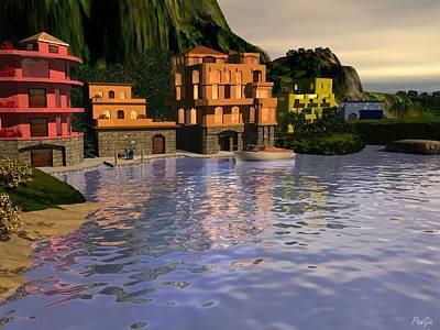 Digital Art - Lake Como by John Pangia