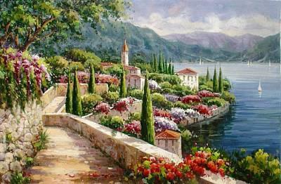 Lake Como Promenade Art Print by Lucio Campana