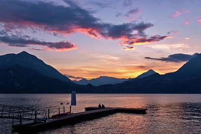 Photograph - Lake Como Sunset by Carolyn Derstine