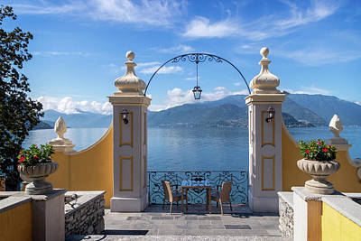 Photograph - Lake Como Table For Two by Carolyn Derstine