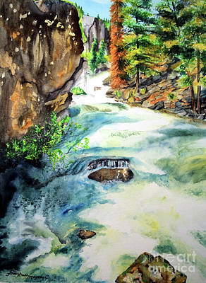 Painting - Lake Como Waterfall by Tracy Rose Moyers