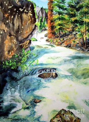 Lake Como Waterfall Art Print by Tracy Rose Moyers