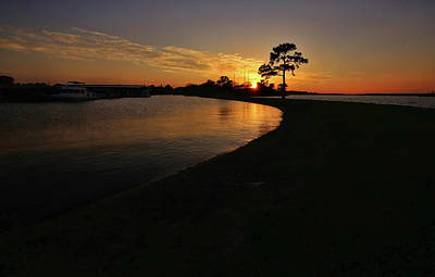 Photograph - Lake Conroe Sunset by Judy Vincent