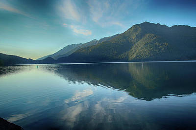 Photograph - Lake Crescent At Dawn by Marie Leslie