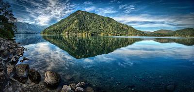 Photograph - Lake Crescent by Dick Pratt