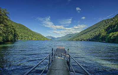 Medina Lake Photograph - Lake Crescent Dock by Joe Medina