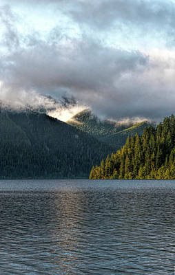 Photograph - Lake Crescent Eve by Michael Hope