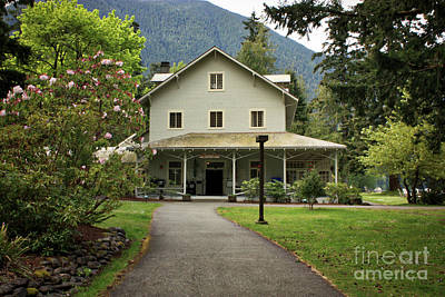 Photograph - Lake Crescent Lodge In Springtime by Carol Groenen