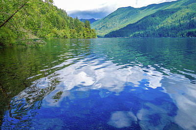 Photograph - Lake Crescent Summer Reflections by Dan Sproul