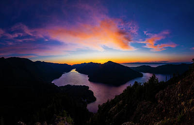 Olympic National Park Photograph - Lake Crescent Sunset by Pelo Blanco Photo