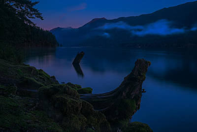 Photograph - Lake Crescent 2 by Thomas Hall