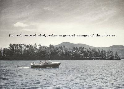 Lake Cruise Quote Art Print by JAMART Photography