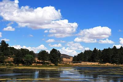 Lake Cuyamac Landscape And Clouds Art Print