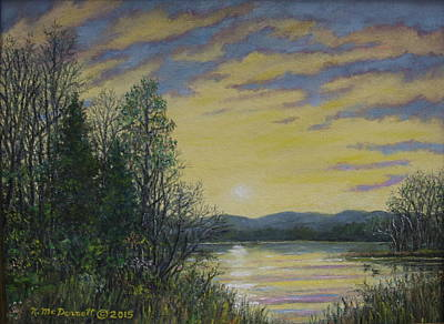 Lake Dawn Art Print by Kathleen McDermott