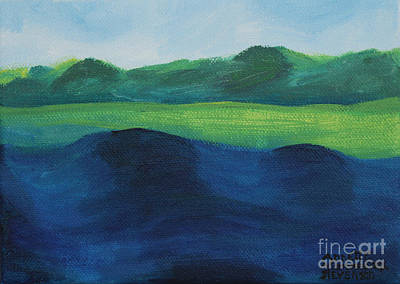 Painting - Lake Day by Annette M Stevenson