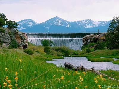 Thawing Time Photograph - Lake Deweese Dam Colorado by Jennifer Myers