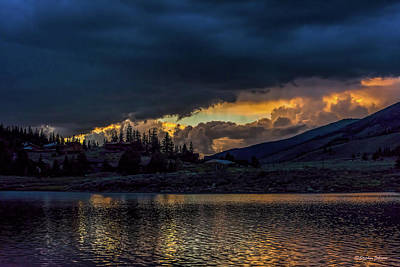 Photograph - Lake Dillon Stormy Sunset by Stephen Johnson