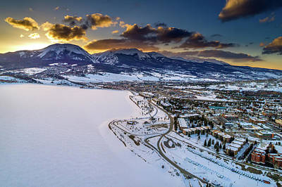 Buffalo Photograph - Lake Dillon Sunset by Sebastian Musial