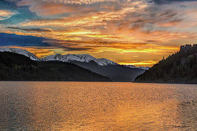 Photograph - Lake Dillon Sunset by Stephen Johnson