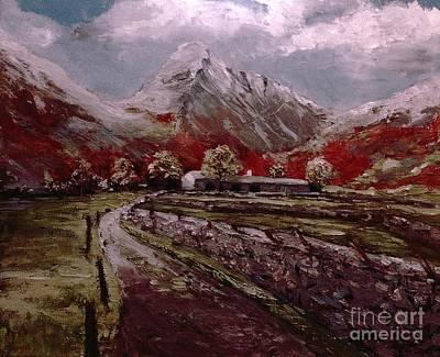 Lake District Great Gable Art Print