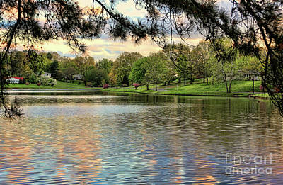 Photograph - Lake Dixon Tennessee Color Landscape  by Chuck Kuhn
