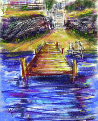 Digital Art - Lake Dock by Russell Pierce
