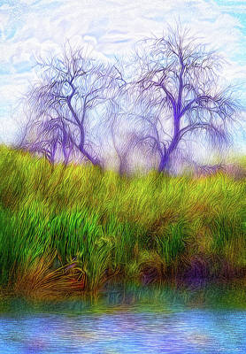 Digital Art - Lake Dream Peace by Joel Bruce Wallach