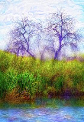 Digital Art - Lake Dream Peace by Joel Bruce Wallach