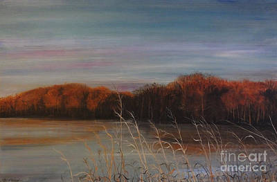 Painting - Quiet Lake Morning At Lake Dunn Village Creek State Park Ar by Lizi Beard-Ward